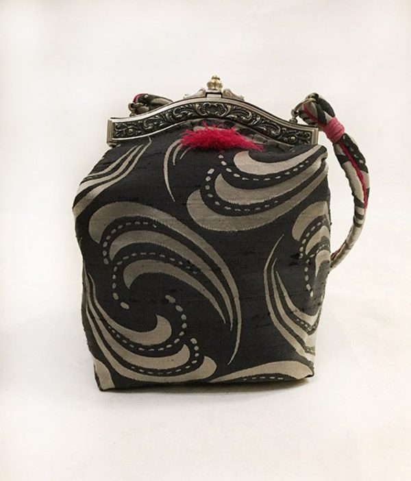 Handmade Silk Purse Front View