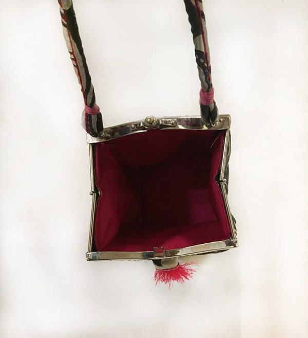 Handmade Silk Purse Interior View