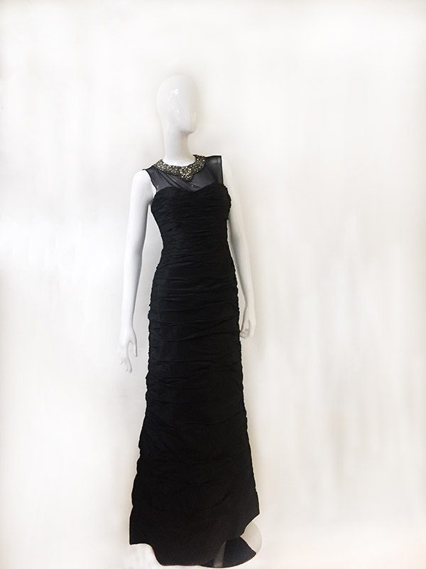 Teri Jon Beaded Neck Gown Preview View