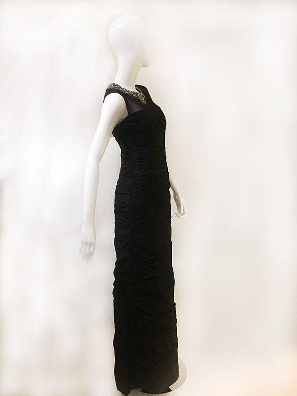 Teri Jon Beaded Neck Gown Side View