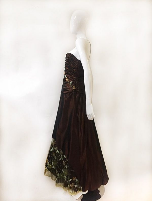Pesavento Couture Brown Gown Side View