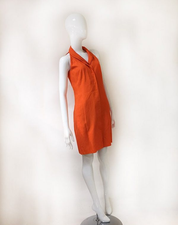 Akris Orange Sleeveless Dress Front View