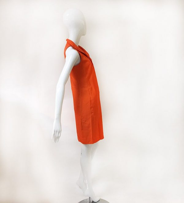 Akris Orange Sleeveless Dress Side View