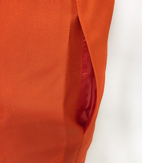 Akris Orange Sleeveless Dress Pocket View