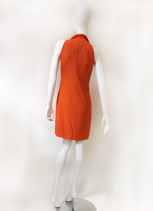 Akris Orange Sleeveless Dress Back View