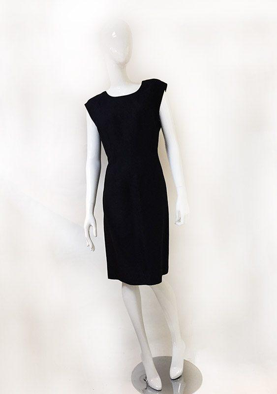 Talbots Navy Sleeveless Dress Front View 2