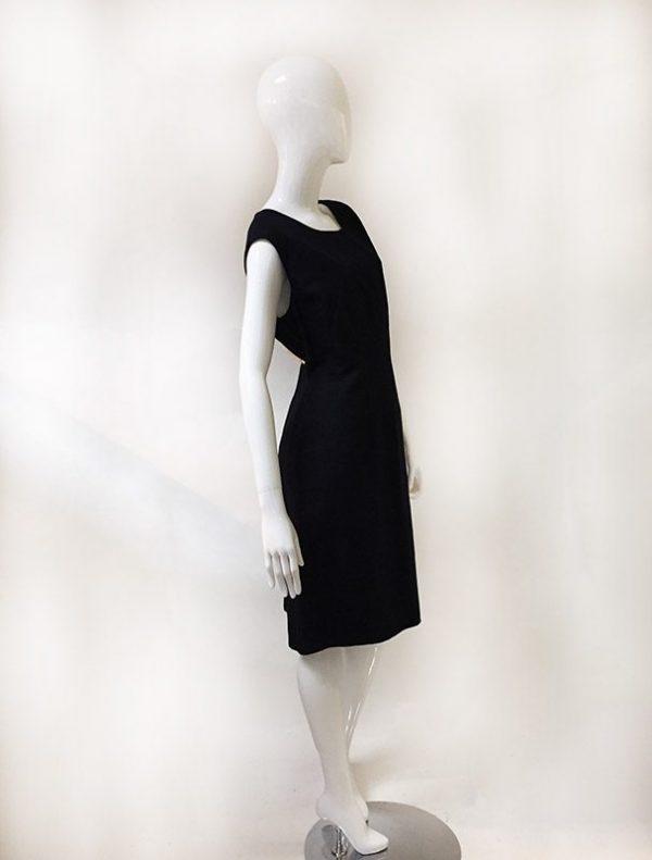 Talbots Navy Sleeveless Dress Side View 2