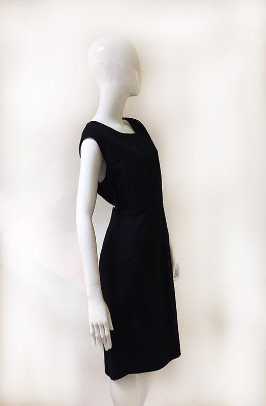 Talbots Navy Sleeveless Dress Side View