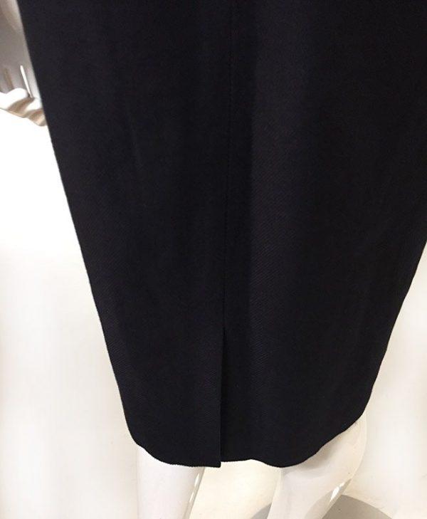 Talbots Navy Sleeveless Dress Back Slit/Hem View