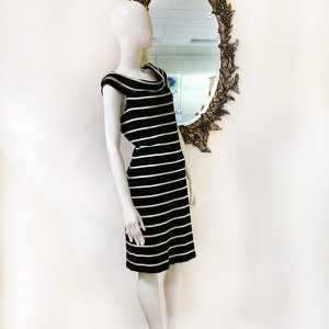 Lauren Stripe Knit Dress Preview View