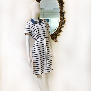 J. McLaughlin Belted Striped Dress Preview View