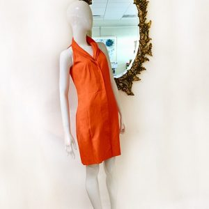 Akris Orange Sleeveless Dress Preview View