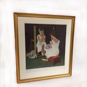 "Norman Rockwell ""Girl At The Mirror"" Preview View"