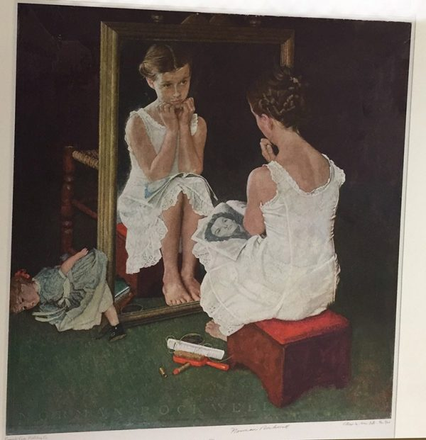 "Norman Rockwell ""Girl In The Mirror"" Print View"