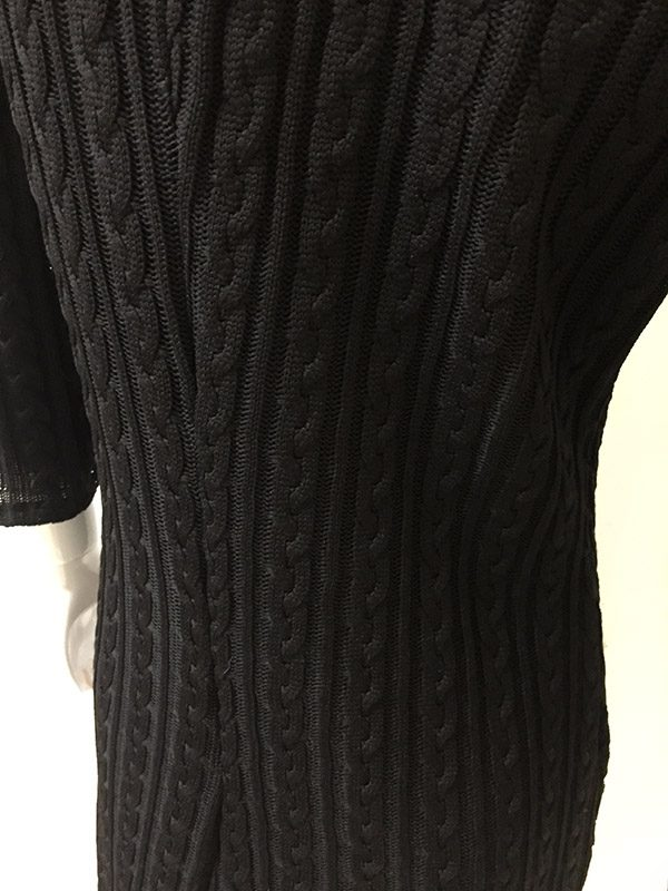 Andria Lieu Sweater Dress Cable Knit View