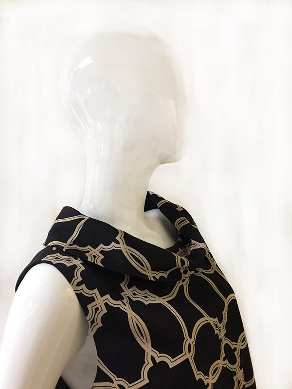 Talbots Cowl Neck Dress Neckline Close Up View