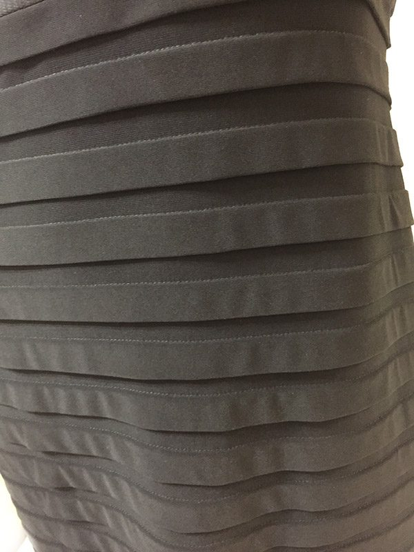 Adrianna Papell Sleeveless Dress Skirt Close Up View