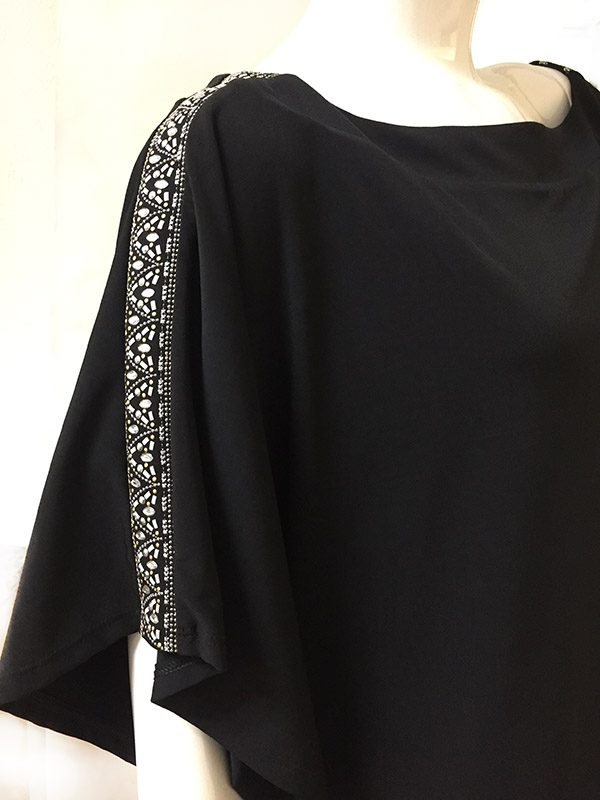 White House/Black Market Blouson Dress Sleeve Trim View