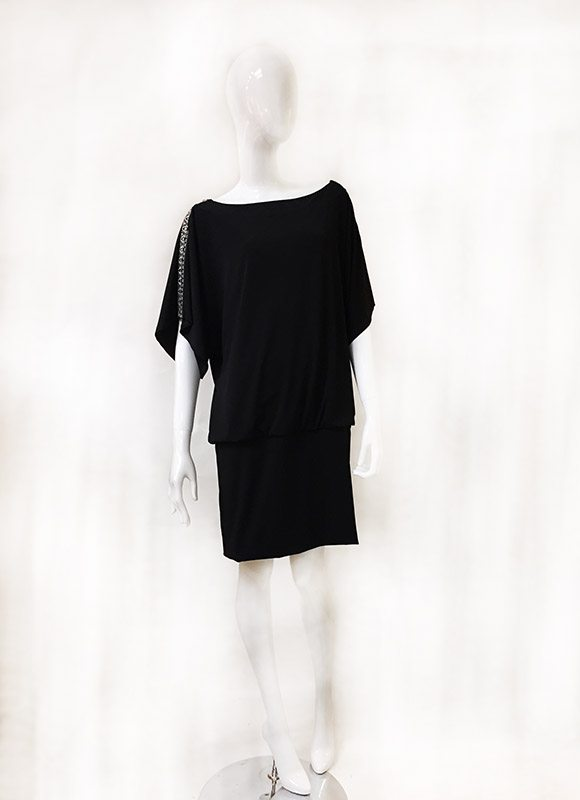 White House/Black Market Blouson Dress Front View