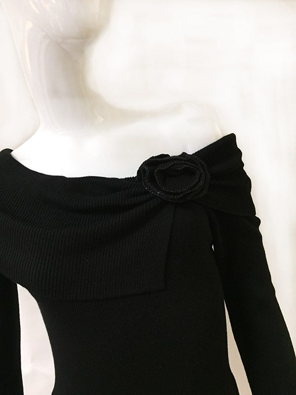 White House Black Market Sweater Dress Off The Shoulder View