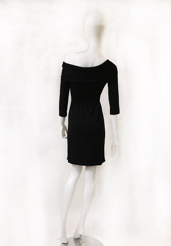 White House Black Market Sweater Dress Back View