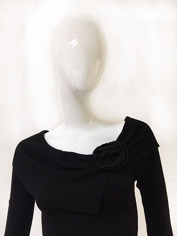 White House Black Market Sweater Dress Neckline View