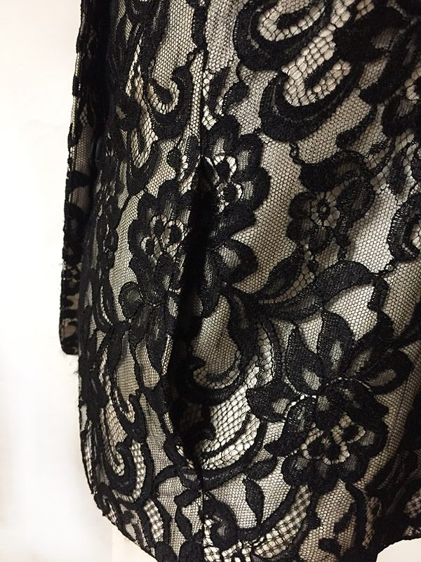 Lafayette 148 Lace Jacket Close Up Pocket View