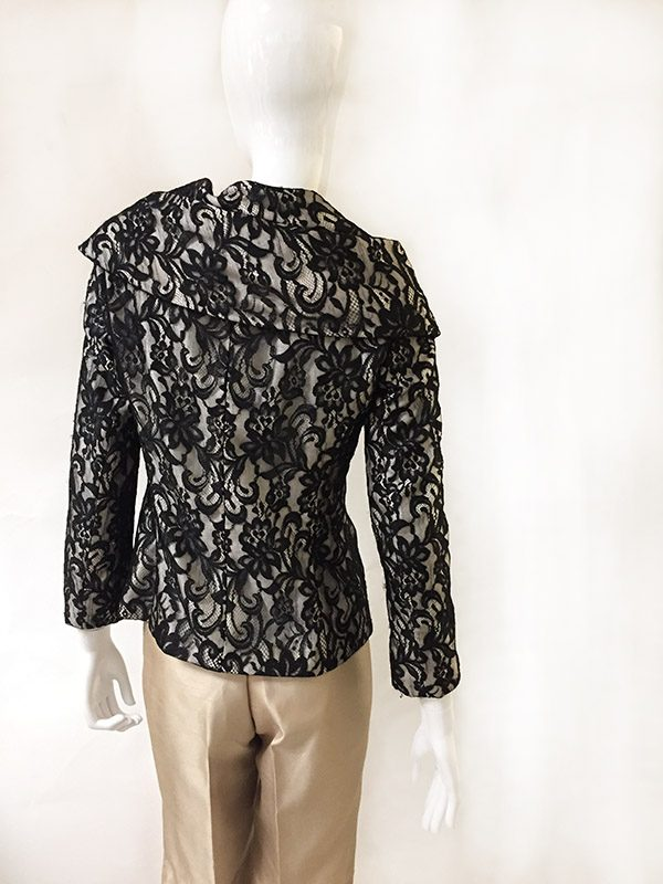 Lafayette 148 Lace Jacket Back View
