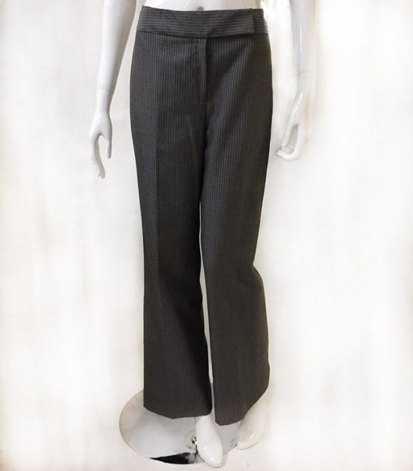 Tahari Pinstripe Pantsuit Close Up Front Pant View