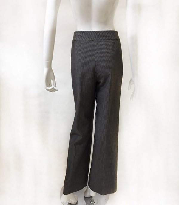 Tahari Pinstripe Pantsuit Close Up Back Pant View