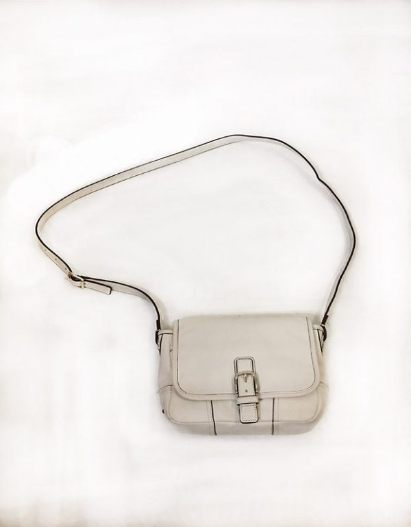 Coach Off-White Satchel Front View