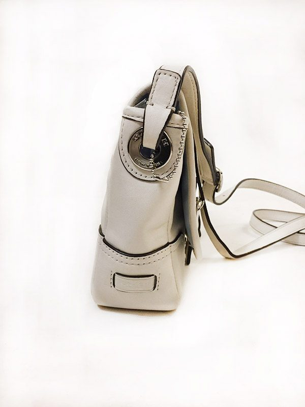 Coach Off-White Satchel Side View 2