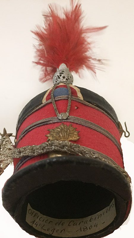 Miniature French Military Hat Close Up Front View