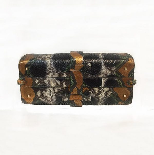 Gucci Python Stirrup Top Handle Bag Bottom View