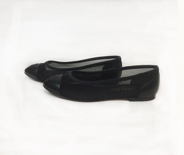 Chanel Mesh Ballerina Flat Side View 2
