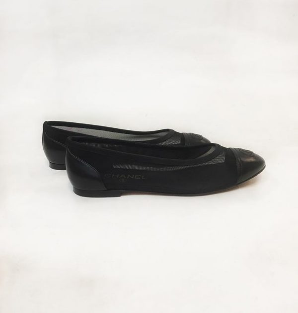 Chanel Mesh Ballerina Flat Side View