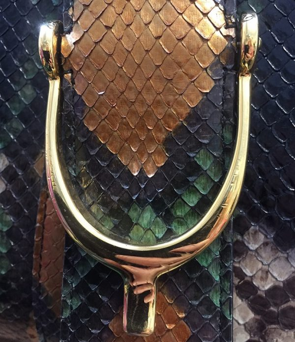 Gucci Python Stirrup Top Handle Bag Scratches View