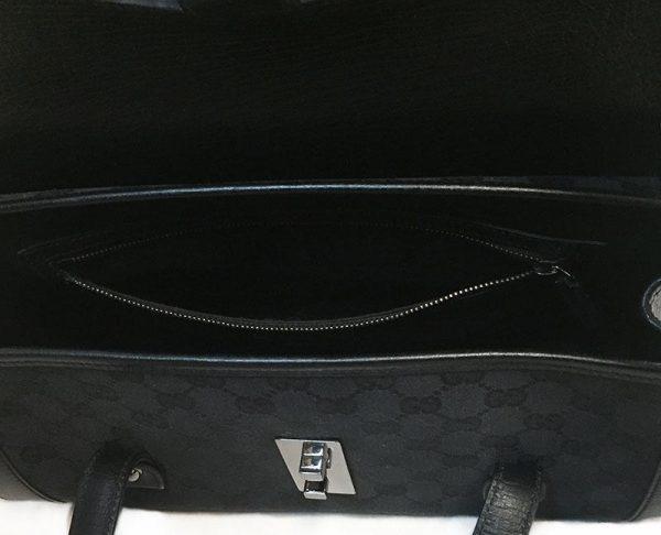 Gucci Monogram Canvas Bullet Bag Interior View 3