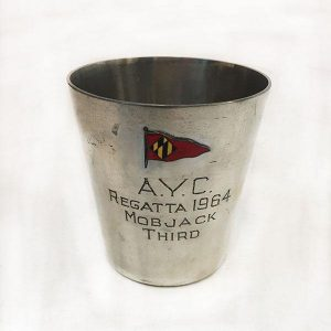 AYC Pewter Trophy Cup Front View